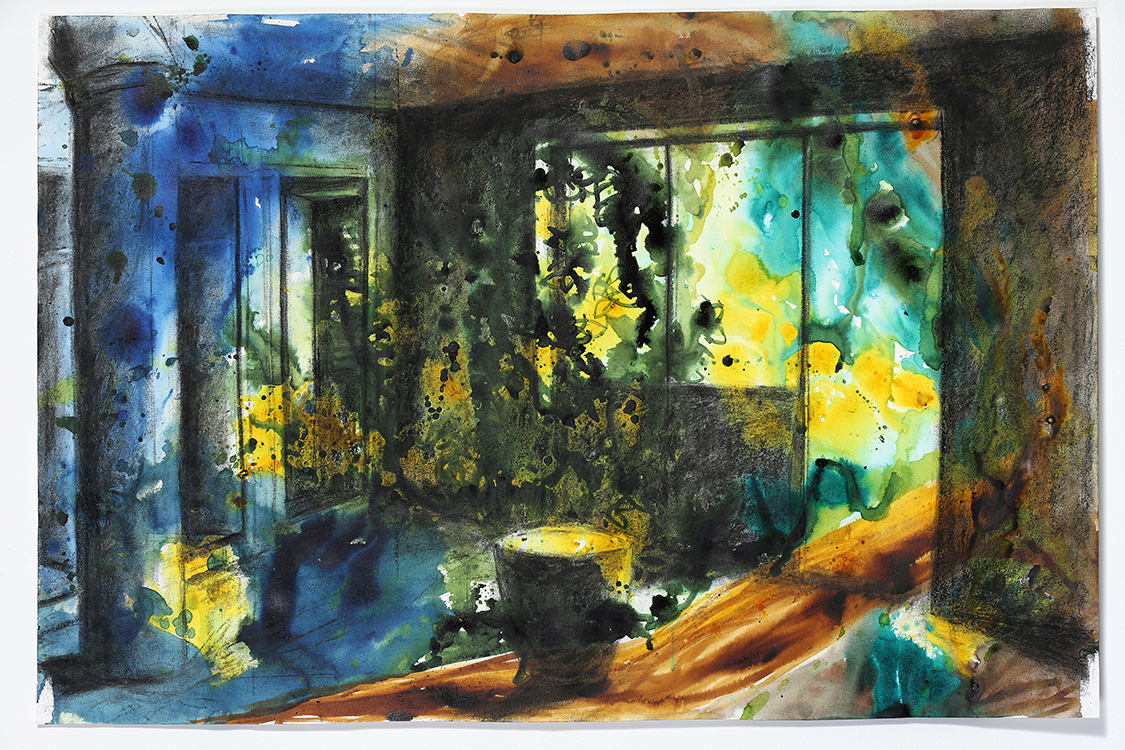colour painting abstract interior