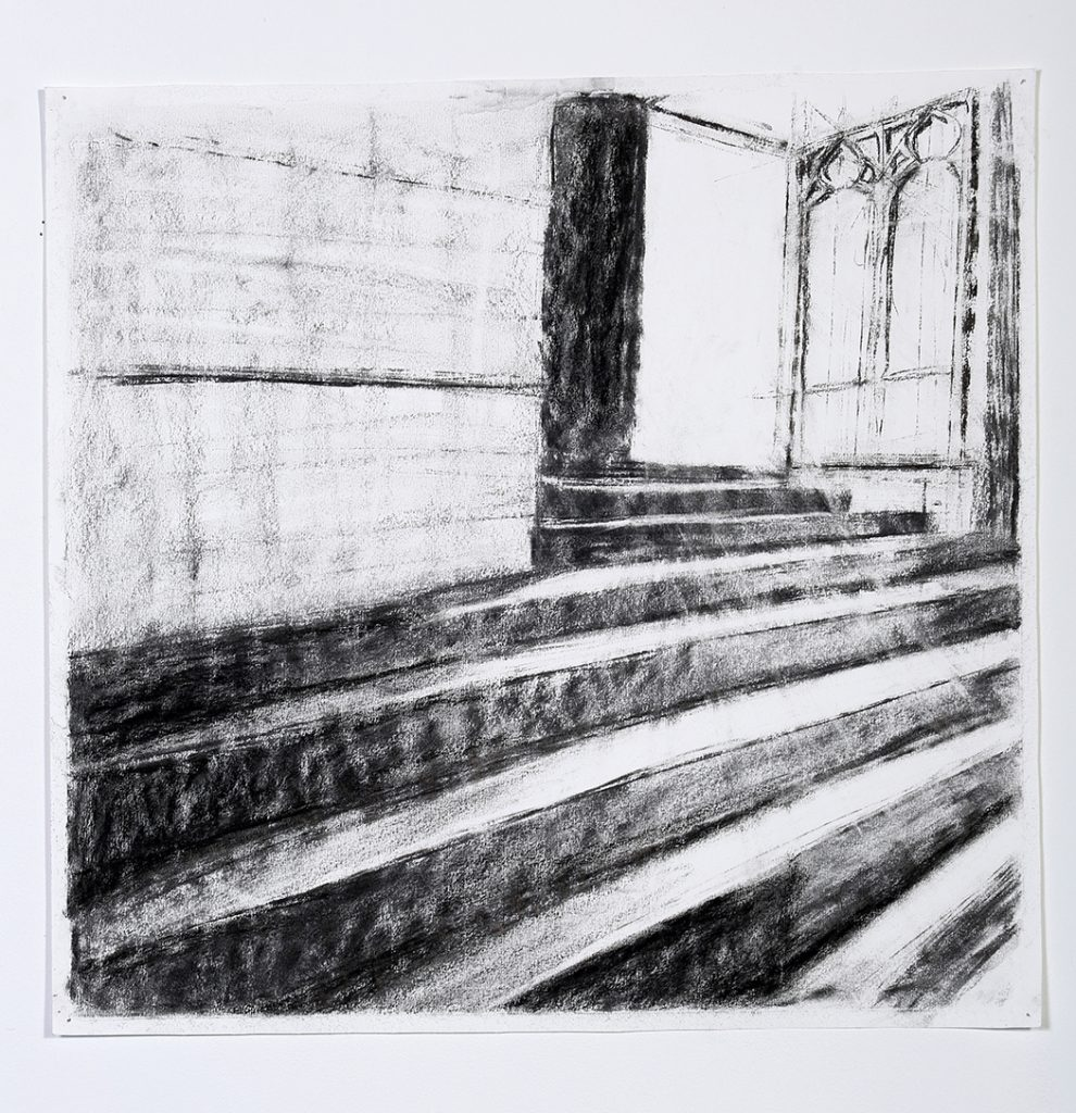 drawing church door and steps