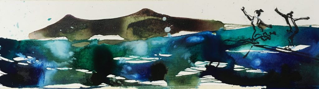 colour painting abstract landscape