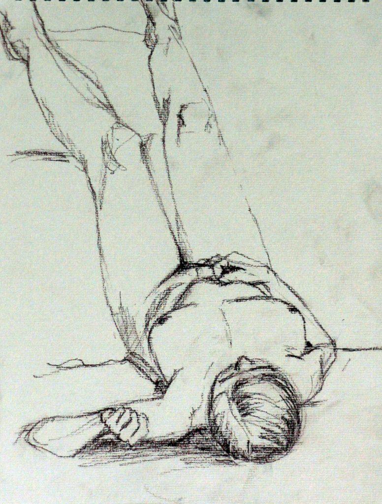 figure drawing woman lying down