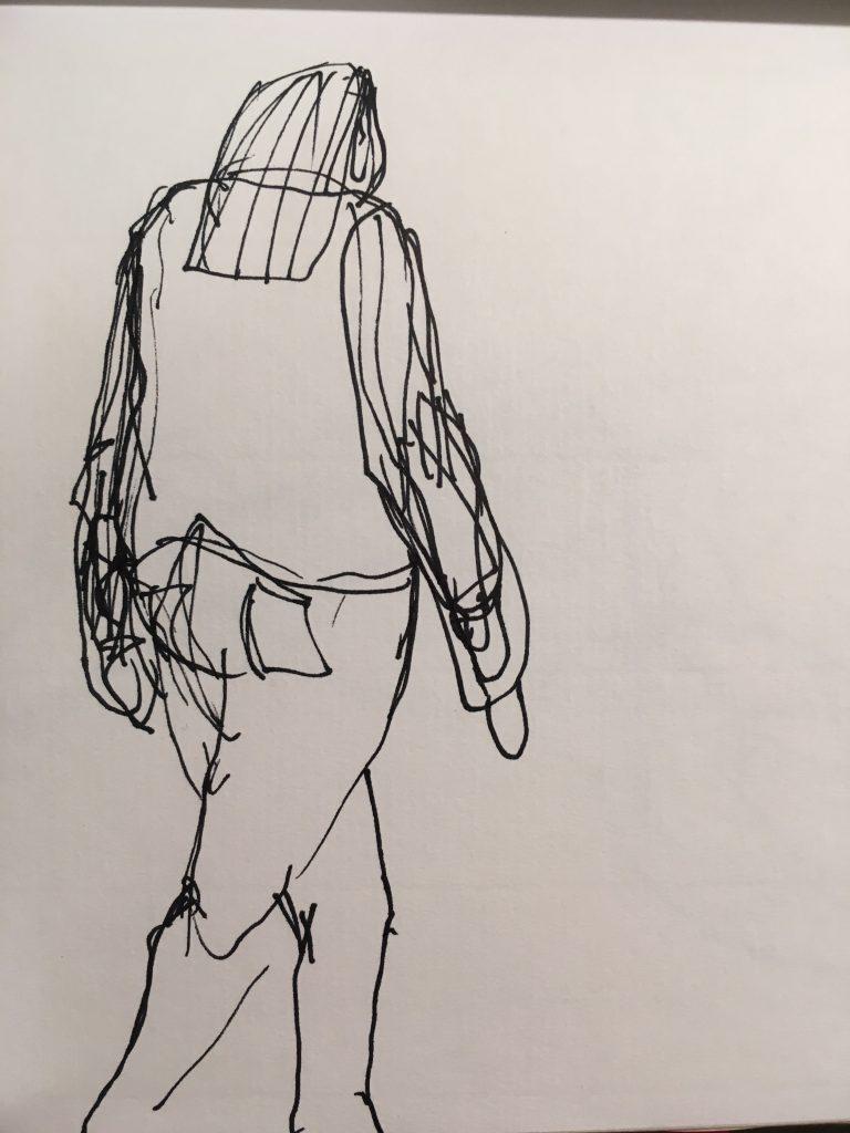 figure drawing woman walking
