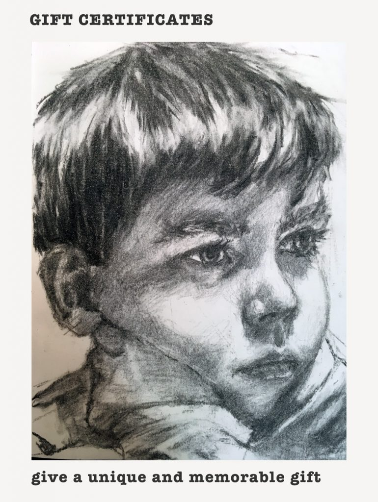 portrait Charcoal- child - Orlaith Cullinane