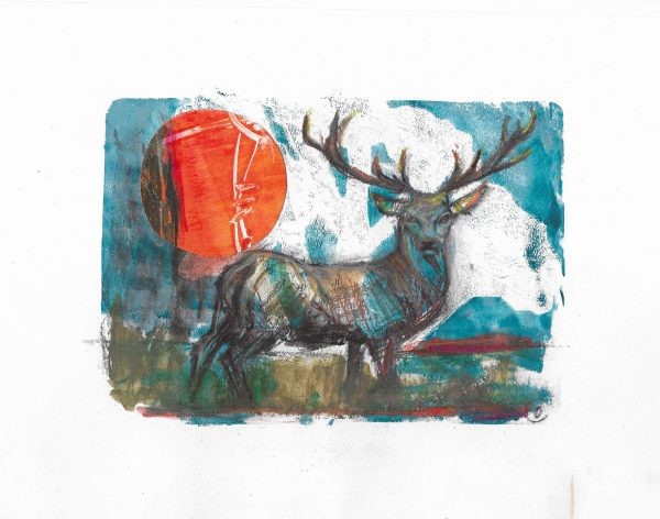 Original-Irish-Art-animal-Orlaith-Cullinane-crop8-stag-dawn