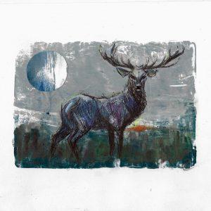 Original-Irish-Art-animal-Orlaith-Cullinane-crop9-stag-Moon