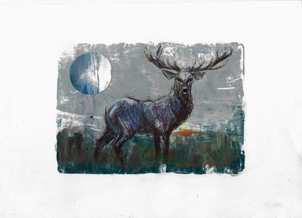 Original-Irish-Art-animal-Orlaith-Cullinane-crop9-stag-Moon